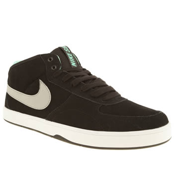 mens nike skateboarding black & grey mavrk mid 3 trainers