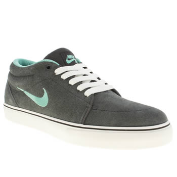 mens nike sb grey satire mid trainers