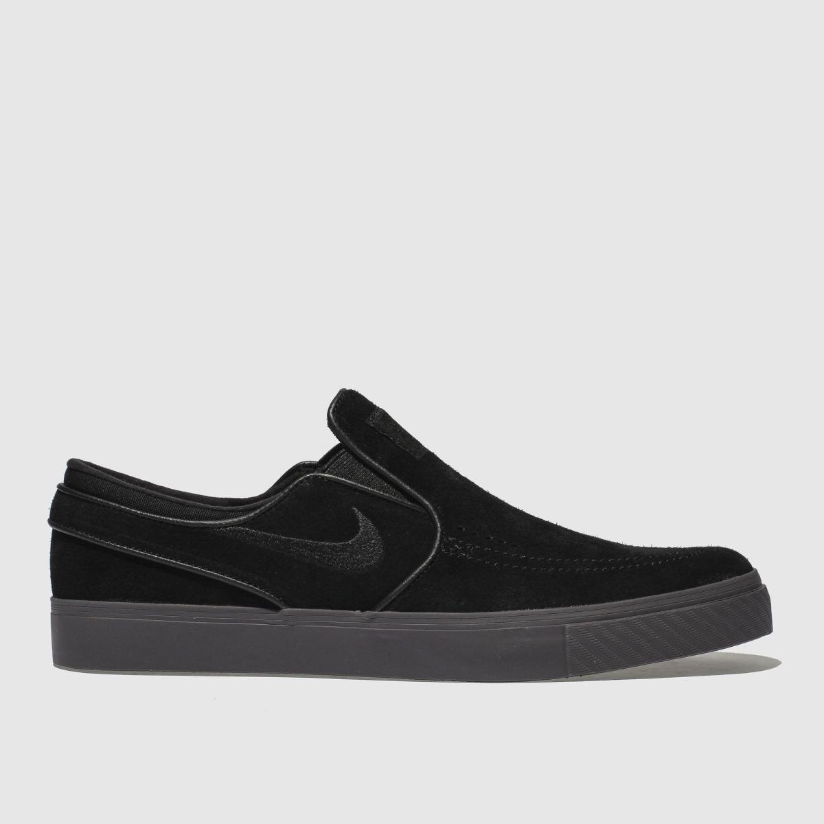 Nike Sb Black & Grey Stefan Janoski Slip Trainers