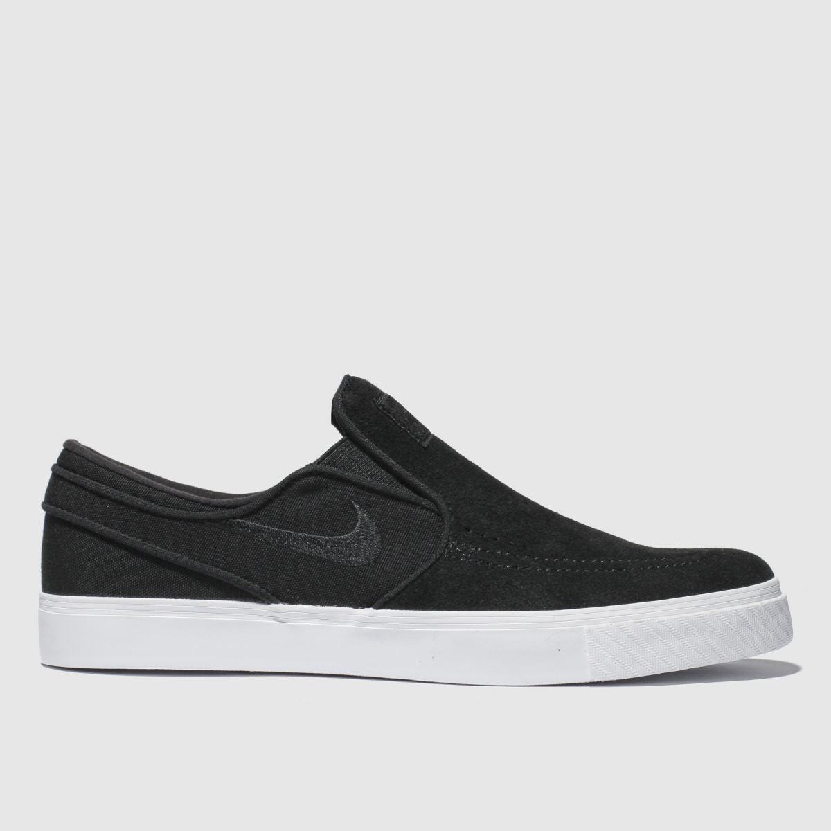 Nike Sb Black & White Stefan Janoski Slip Trainers