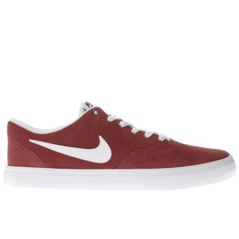 Nike Sb Red Check Solarsoft Trainers