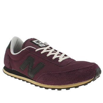 Mens New Balance Burgundy 410 Trainers