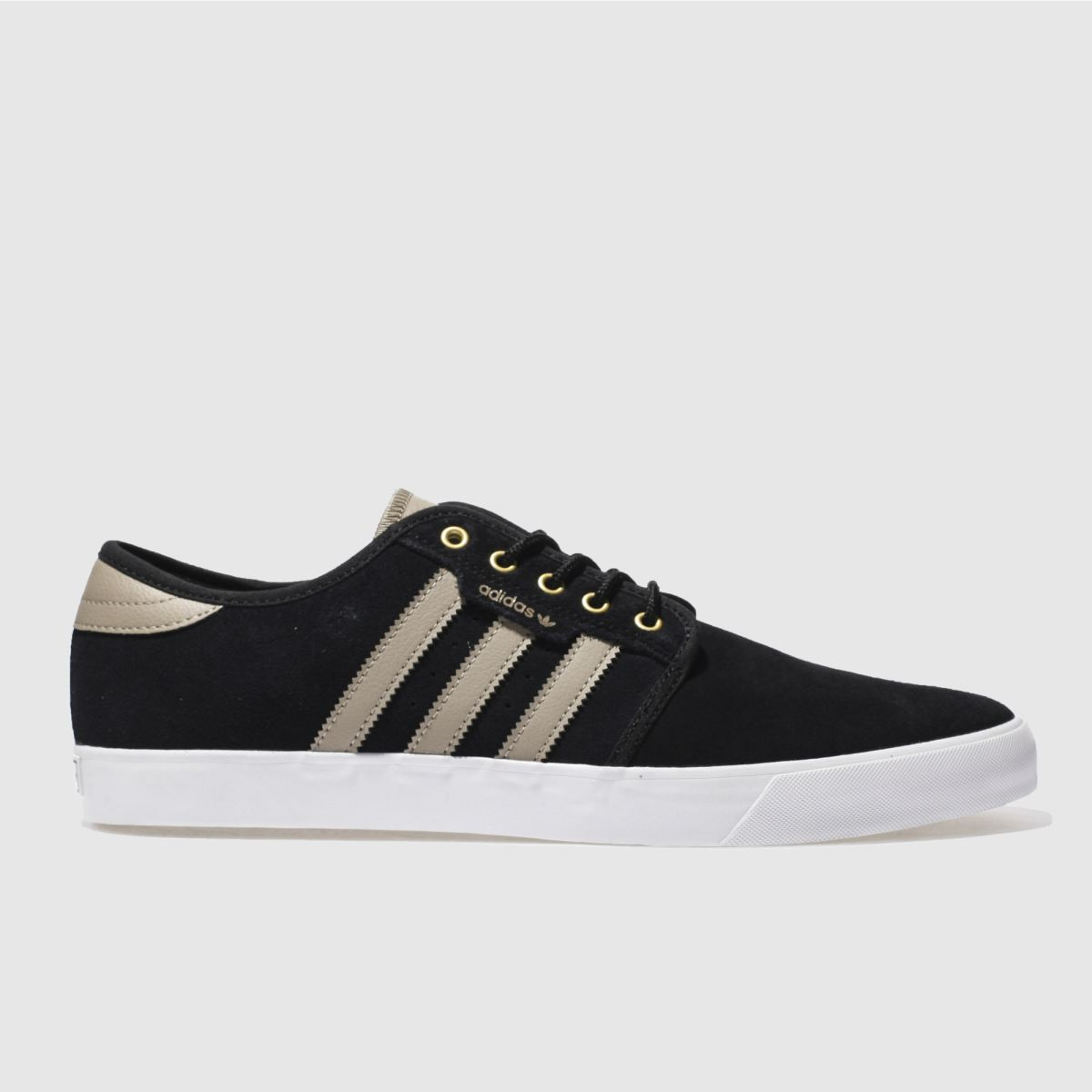 adidas black seeley trainers
