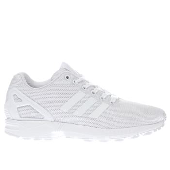 Adidas White Zx Flux Mens Trainers