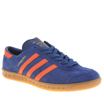 Mens Adidas Blue Hamburg Trainers