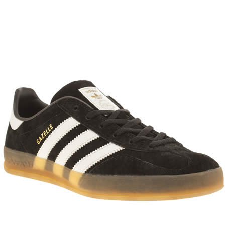 Adidas Black & White Gazelle Indoor Trainers
