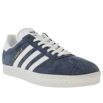 mens adidas navy gazelle 2 trainers