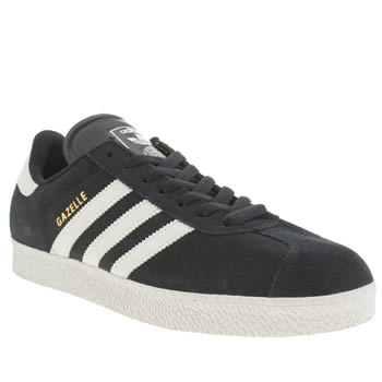 mens adidas navy & white gazelle trainers