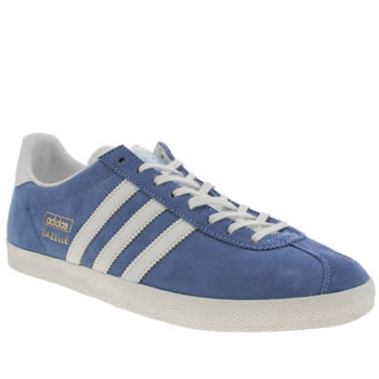 Mens Adidas Blue Gazelle Og Trainers