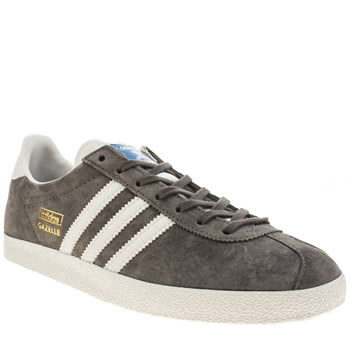 Adidas Grey Gazelle Og Trainers