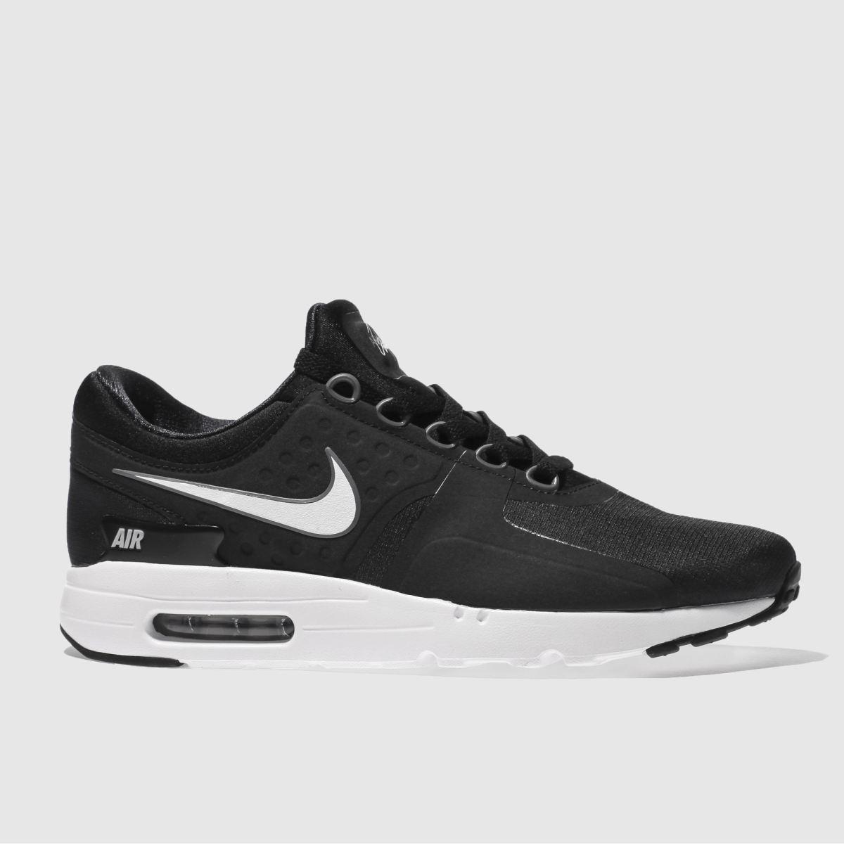 nike black & white air max zero essential trainers