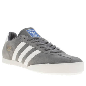 Adidas Grey Bamba Trainers