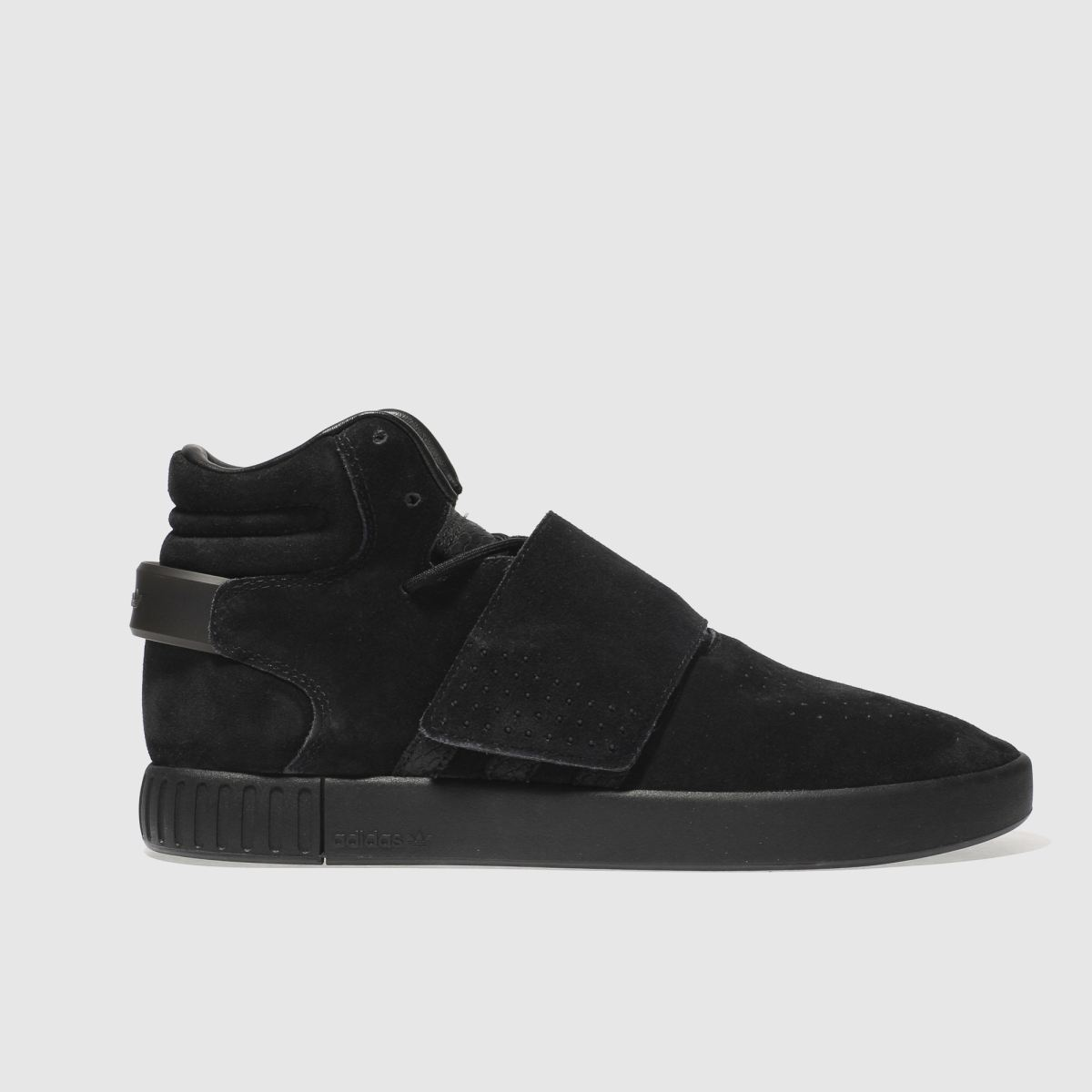 adidas black tubular invader strap trainers