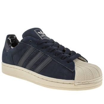 mens adidas navy superstar ii camo trainers