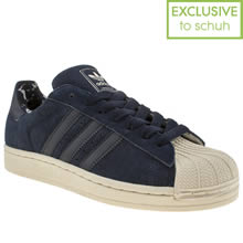 Navy Adidas Superstar Ii Camo