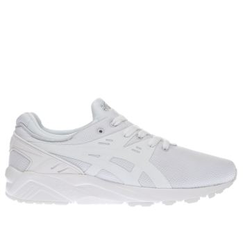 Asics White Gel-Kayano Evo Mens Trainers