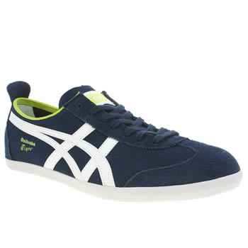 Mens Onitsuka Tiger Navy & White Mexico 66 Vulc Trainers