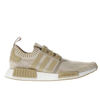 Adidas Beige Nmd_R1 Primeknit Mens Trainers