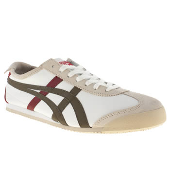 mens onitsuka tiger white mexico 66 trainers