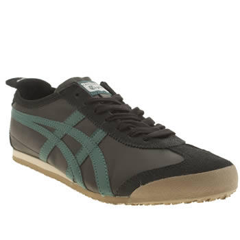 Mens Onitsuka Tiger Black and blue Mexico 66 Trainers