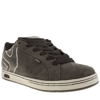 Mens Etnies Grey & Black Fader Trainers