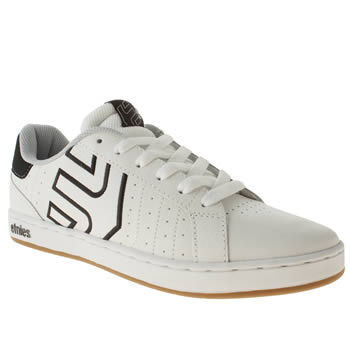 Etnies White & Black Fader Ls Trainers