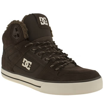 mens dc shoes brown spartan high wc trainers
