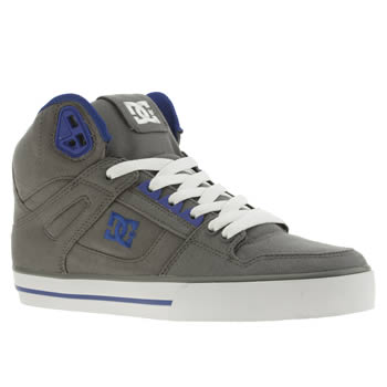 mens dc shoes grey spartan high tx trainers