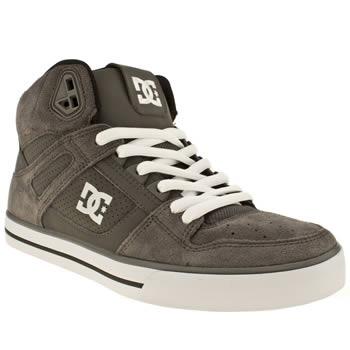 mens dc shoes dark grey spartan high wc trainers