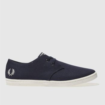 Fred Perry Navy Byron Low Twill Mens Trainers