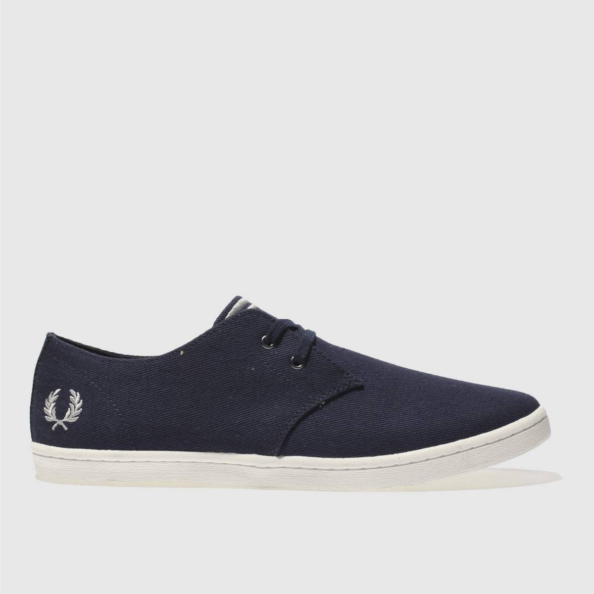 fred perry navy byron low twill trainers