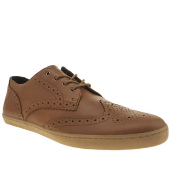 Mens Fred Perry Tan Ealing Leather Trainers