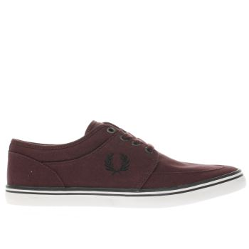 Fred Perry Burgundy Stratford Mens Trainers