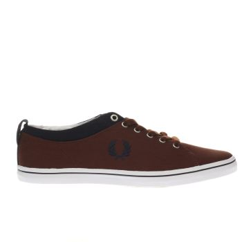 Fred Perry Burgundy Hallam Mens Trainers