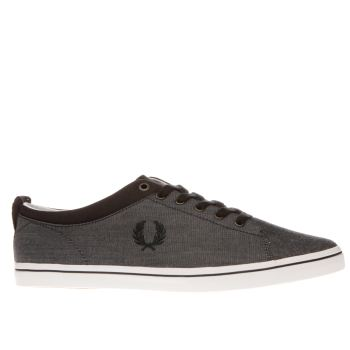 Fred Perry Navy Hallam Mens Trainers