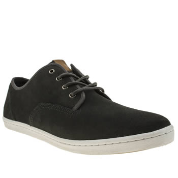 Mens Fred Perry Dark Grey Hunt Trainers
