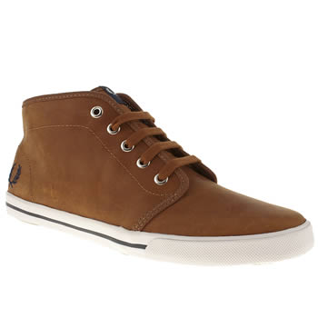 mens fred perry tan fletcher trainers