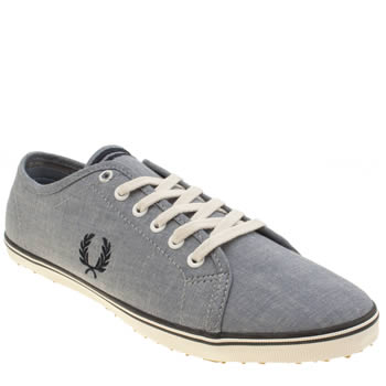 Mens Fred Perry Pale Blue Kingston Twill Trainers