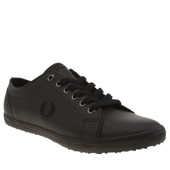 Mens Fred Perry Black Kingston Leather Trainers