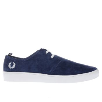 Fred Perry Navy Shields Mens Trainers