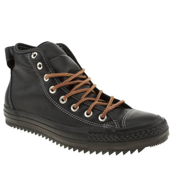 mens converse black hollis hi trainers