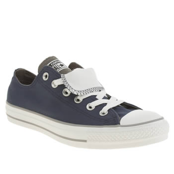 Converse Navy & Grey All Star Double Tongue Lo Trainers