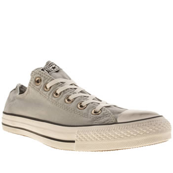 mens converse light grey chuck taylor all star washed trainers