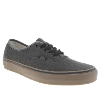 Vans Dark Grey Authentic Washed Canvas Trainers
