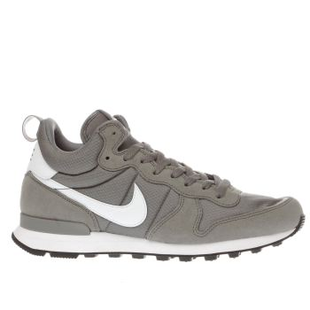Nike Grey Internationalist Mid Trainers