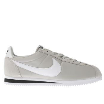 Nike Light Grey Classic Cortez Trainers