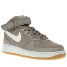 Nike Grey Air Force 1 Mid 07 Mens Trainers