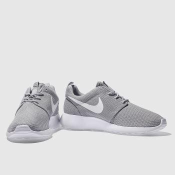 Mens Light Grey Nike Roshe Run Trainers | schuh