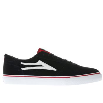 Mens Lakai Black & White Manchester Trainers