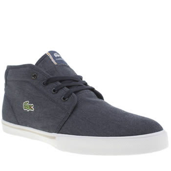 Mens Lacoste Navy & White Ampthill Trainers